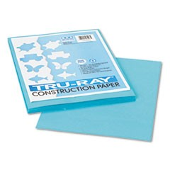 Tru-Ray Construction Paper, 76lb, 9 x 12, Turquoise, 50/Pack
