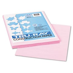 Tru-Ray Construction Paper, 76lb, 9 x 12, Pink, 50/Pack
