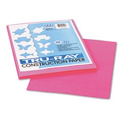 1Tru-Ray Construction Paper, 76lb, 9 x 12, Shocking Pink, 50/Pack