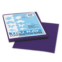 1Tru-Ray Construction Paper, 76lb, 9 x 12, Purple, 50/Pack