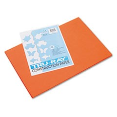 Tru-Ray Construction Paper, 76 lbs., 12 x 18, Orange, 50 Sheets/Pack