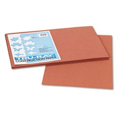 Tru-Ray Construction Paper, 76 lbs., 12 x 18, Warm Brown, 50 Sheets/Pack