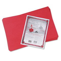 Riverside Construction Paper, 76lb, 12 x 18, Holiday Red, 50/Pack