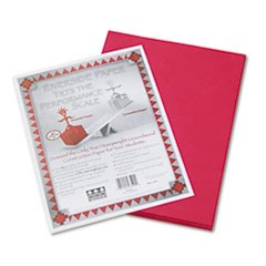 Riverside Construction Paper, 76lb, 9 x 12, Red, 50/Pack