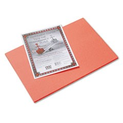 Riverside Construction Paper, 76lb, 12 x 18, Orange, 50/Pack