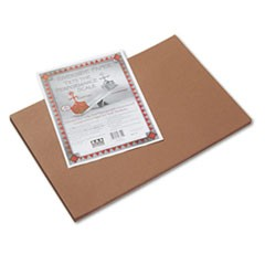 Riverside Construction Paper, 76lb, 12 x 18, Brown, 50/Pack