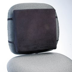 Back Perch with Fleece Cover, 13w x 2.75d x 12.5h, Black, 10/Carton