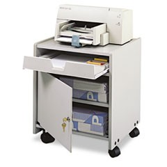 Office Machine Mobile Floor Stand, One-Shelf, 19w x 18-1/4d x 22-1/2h, Gray