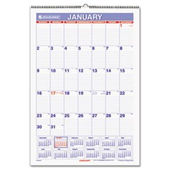 Erasable Wall Calendar, 15 1/2 x 22 3/4, White, 2016