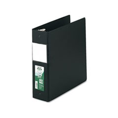 "Clean Touch Locking Round Ring Reference Binder Protected w/Antimicrobial Additive, 3 Rings, 3"" Capacity, 11 x 8.5, Black"