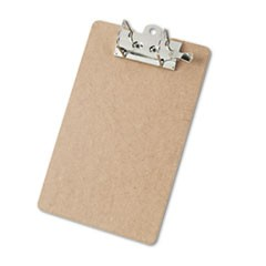 "Recycled Hardboard Archboard Clipboard, 2"" Clip Cap, 8 1/2 x 12 Sheets, Brown"