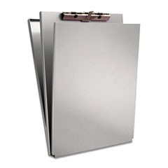 "A-Holder Aluminum Form Holder, 1/2"" Clip Capacity, Holds 8.5 x 12 Sheets, Silver"