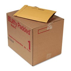 Jiffy Padded Mailer, Side Seam, #1, 7 1/4 x 12, Natural Kraft, 100/Carton