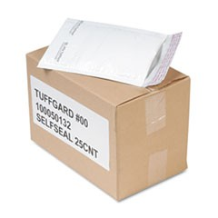 Jiffy TuffGard Self-Seal Cushioned Mailer, Side Seam, #00, 5x10, WE, 25/Carton