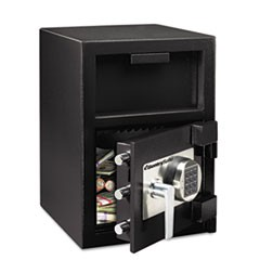Depository Safe, 1.09 ft3, 14w x 15 3/5d x 24h, Black