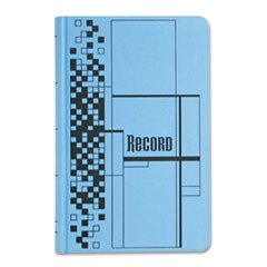 Record Ledger Book, Blue Cloth Cover, 500 7 1/2 x 12 Pages