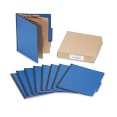 Presstex Colorlife Classification Folders, Letter, 6-Section, Dark Blue, 10/Box