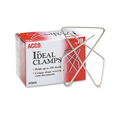 Ideal Clamps, Large (No. 6), Silver, 12/Box