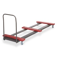 Table Truck, 8 Foot Rectangular, 10-12 Table Capacity, Black/Red