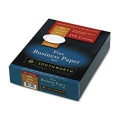 25% Cotton Business Paper,White w/Red Rules 20 lb, Wove, 8-1/2 x 11, 500/Bx, FSC