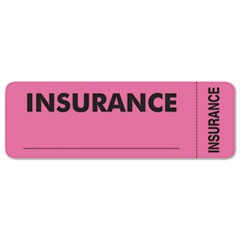 Medical Labels for Insurance, 1 x 3, Fluorescent Pink, 250/Roll