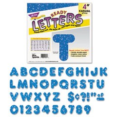 "1Ready Letters Sparkles Letter Set, Blue Sparkle, 4""h, 71/Set"