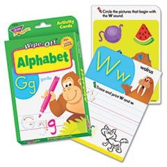 Wipe-Off Activity Cards, Alphabet, 32/Pack
