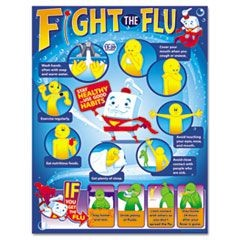 Fight the Flu Learning Chart, Motivational Print, 17 x 22, 12/Pack