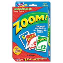 Zoom Math Card Game, Ages 9 and Up