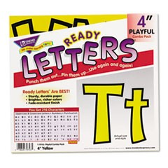 "1Ready Letters Playful Combo Set, Yellow, 4""h, 216/Set"