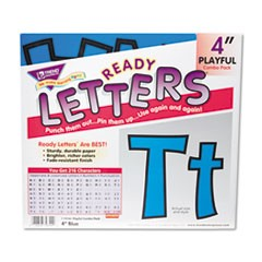 "1Ready Letters Playful Combo Set, Blue, 4""h, 216/Set"