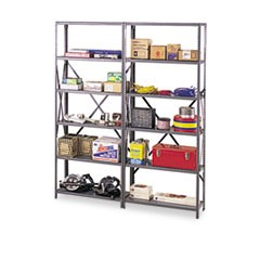 "Industrial Post Kit, for 36"" & 48"" Wide Shelves, Medium Gray"