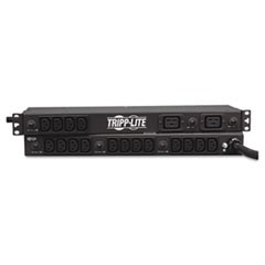 Single-Phase Basic PDU, 20 Outlets, 15 ft Cord, 1U Rack-Mount