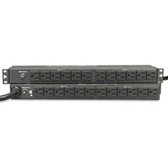 Single-Phase Basic PDU, 24 Outlets, 15 ft. Cord, 1U Rack-Mount