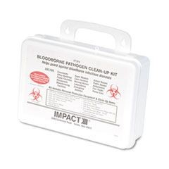 Bloodborne Pathogen Clean-Up Kit in Plastic Case, Wall-Mountable
