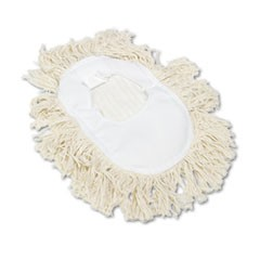 Wedge Dust Mop Head, Cotton, 17 1/2l x 13 1/2w, White