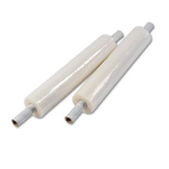"Stretch Film with Preattached Handles, 20"" x 1000ft, 20mic (80-Gauge), 4/Carton"