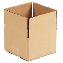 Brown Corrugated - Fixed-Depth Shipping Boxes, 6l x 6w x 4h, 25/Bundle