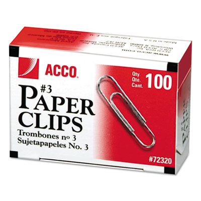 Paper Clips, Medium (No. 3), Silver, 1,000/Pack