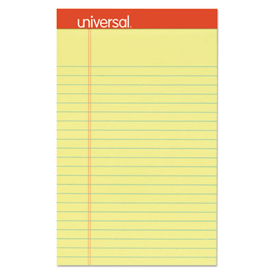 Perforated Ruled Writing Pads, Narrow Rule, 5 x 8, Canary, 50 Sheets, Dozen