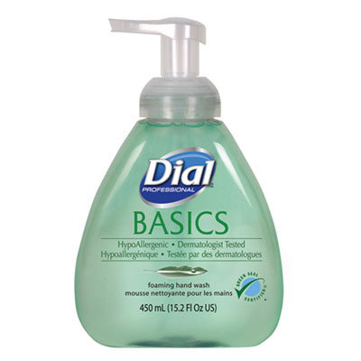 Basics Foaming Hand Soap, Original, Honeysuckle, 15.2 oz Pump Bottle, 4/Carton